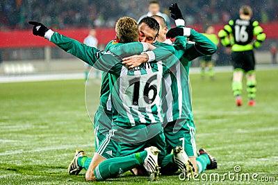 SK Rapid vs. Celtic Glasgow F.C. Editorial Image