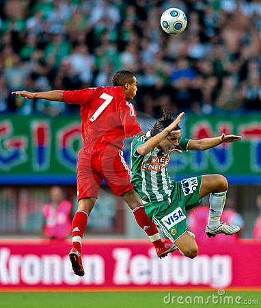 SK Rapid vs. Liverpool FC Editorial Stock Image