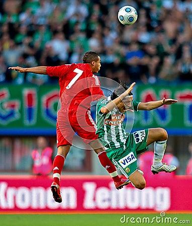 SK Rapid vs. Liverpool FC Editorial Stock Image