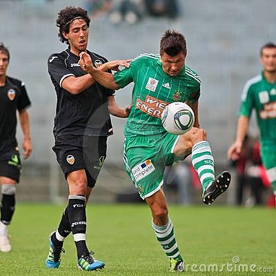 SK Rapid vs. Valencia FC Editorial Stock Photo