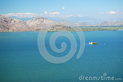 Gorgeous picturesque scene of Lake Skadar in Monte