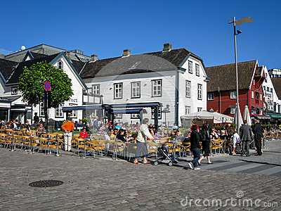 Skagenkaien in Stavanger, Norway Editorial Stock Photo