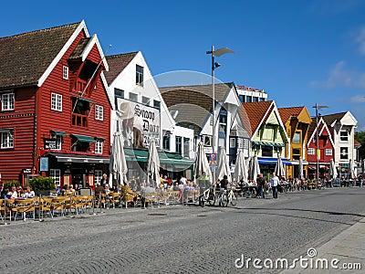 Skagenkaien in Stavanger, Norway Editorial Photography