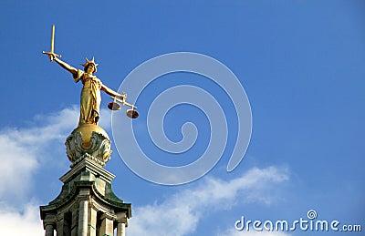 Skalen von Gerechtigkeit (Dame Of Justice) alter Bailey
