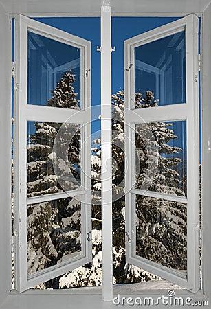 Skandinavische winterlandschaft stockfoto bild 34310980 for Skandinavische fenster