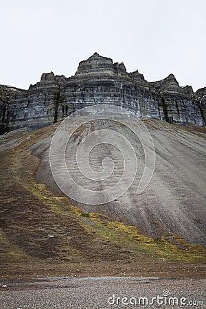 Skansen cliffs, Svalbard, Norway