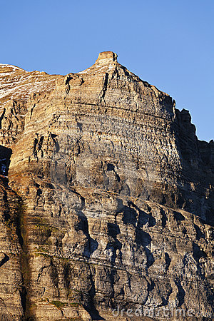Skansen cliffs, Svalbard, Norway