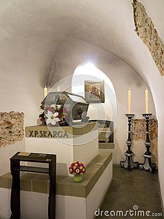Skarga Crypt - Krakow - Poland Editorial Photo