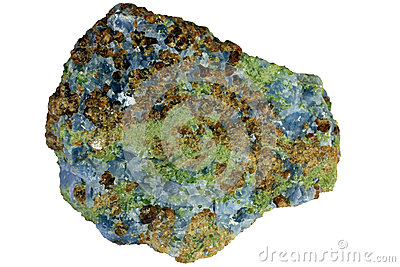 Skarn consisting of garnet, pyroxene, and calcite
