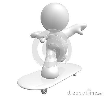 Skate board champion