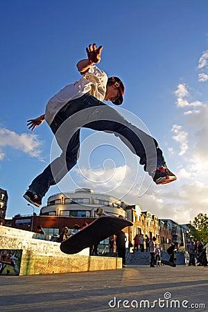Skate Boarder Flip Editorial Stock Image