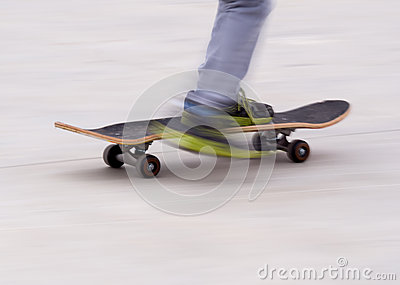 Skateboard blur background