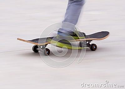 Skateboard blur background
