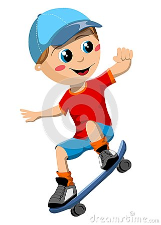 Skateboard Boy Royalty Free Stock Image - Image: 27688476