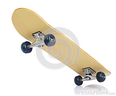 Skateboard deck on white