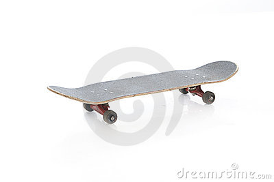 Skateboard isolated on a white
