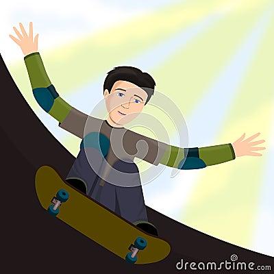 Skateboard kid