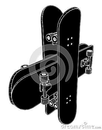 Skateboard Vector 04
