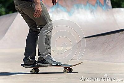 Skateboarder on the Concrete Skate