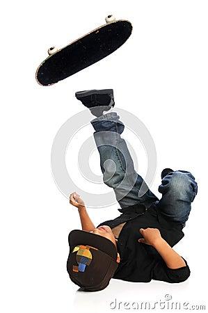 Skateboarder Falling