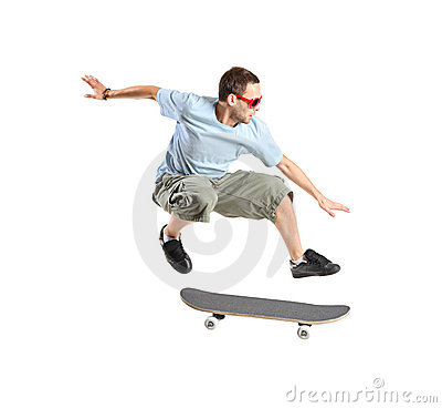 Free Skateboarder Jumping Royalty Free Stock Photo - 9736465