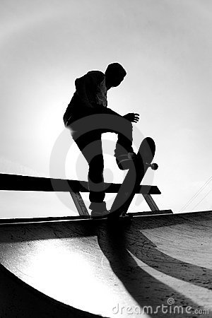 Free Skateboarder Silhouette Stock Photo - 8780020