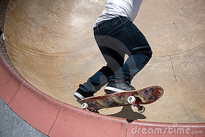 Skateboarder Skating Inside Royalty Free Stock Photos - Image: 19552088