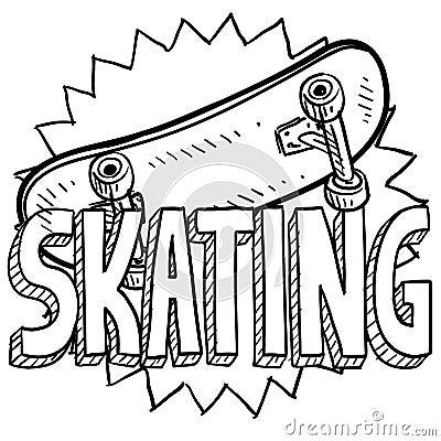 Sketch Of Skateboard Boy Vector Illustration Royalty Free Cliparts ...