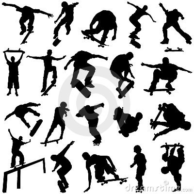 Free Skateboarding Vector Royalty Free Stock Image - 4716256