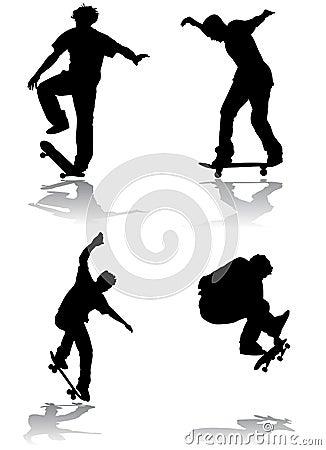 Free Skateboarding Vector Stock Images - 4972534