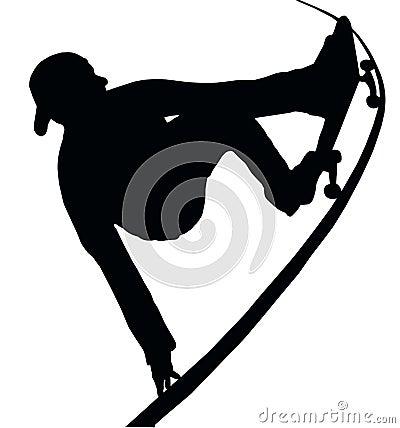 Skateboarding Vert Ramp Grab