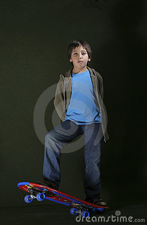 Skater Boy With A Cool Attitude Grunge Style Stock Photos