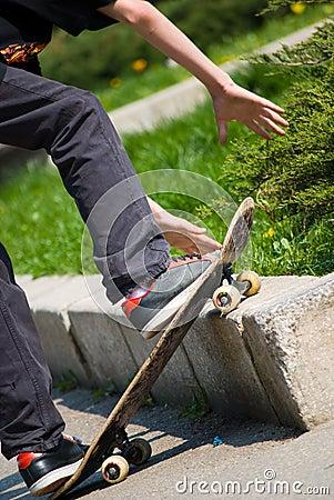 Skater doing a jump