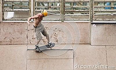 Skater doing tricks