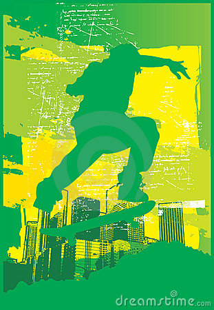Skater Electric Green