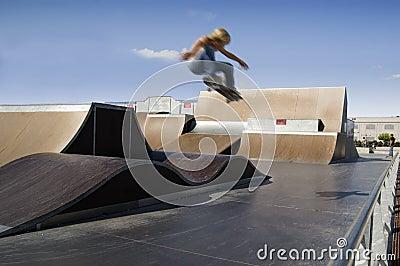 Skater extreme jump
