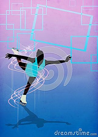 Free Skater Girl, Ice Dance Background Stock Images - 36130284