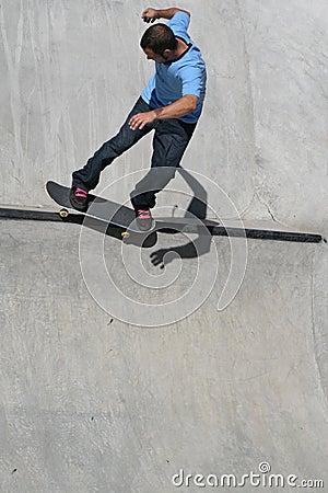 Skater on the lip