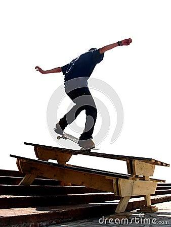 Free Skater Nosegrind Stock Photos - 371373