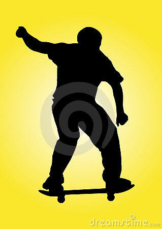 Skater in a yellow background