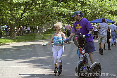 Skaters in Central Park NYC Editorial Stock Photo