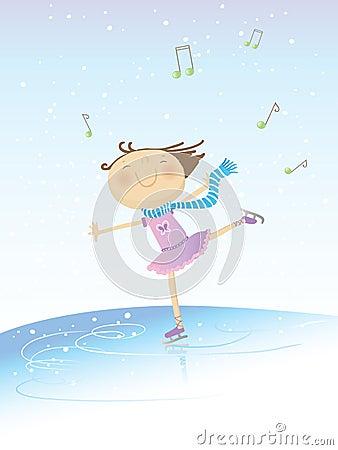 Free Skating Girl Royalty Free Stock Image - 7701886