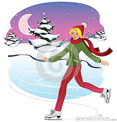 Skating Woman