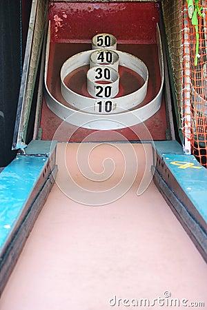 Skeeball carnival arcade game