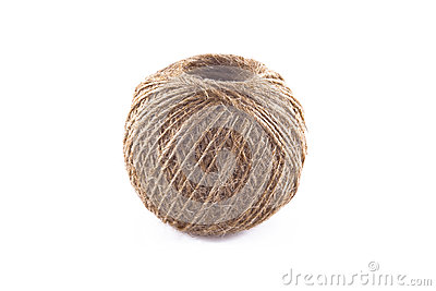 Skein of flax twine