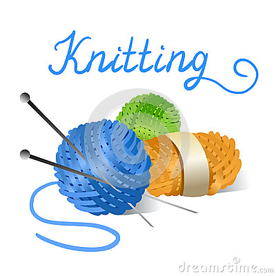 Free Skein Of Yarn And Knitting Needles Royalty Free Stock Image - 42700446