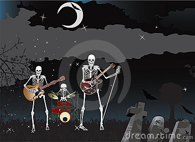 Skeleton Band Royalty Free Stock Image - Image: 11246946
