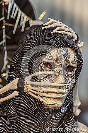 Skeleton Disguise Editorial Stock Photo