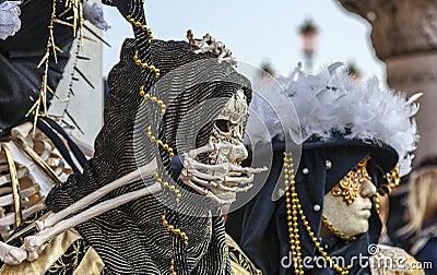 Skeleton Disguise Editorial Stock Image