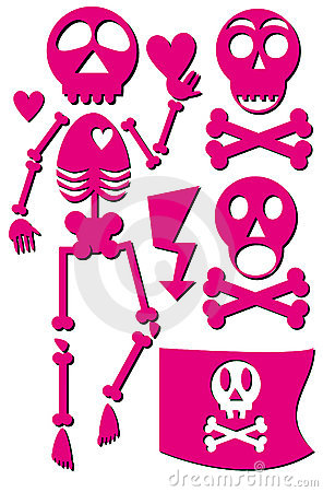 Skeleton emo icon set
